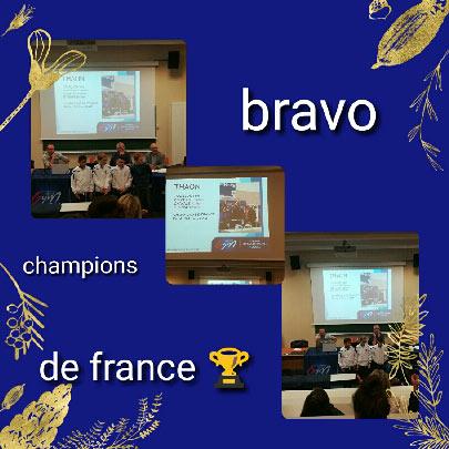 ES Thaon Gymnastique, Champions de France